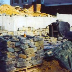 Carderock Stone Wall Before