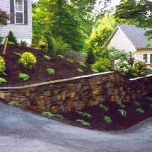 Retaining Wall Stone Facia After