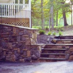 Stone Staircase After