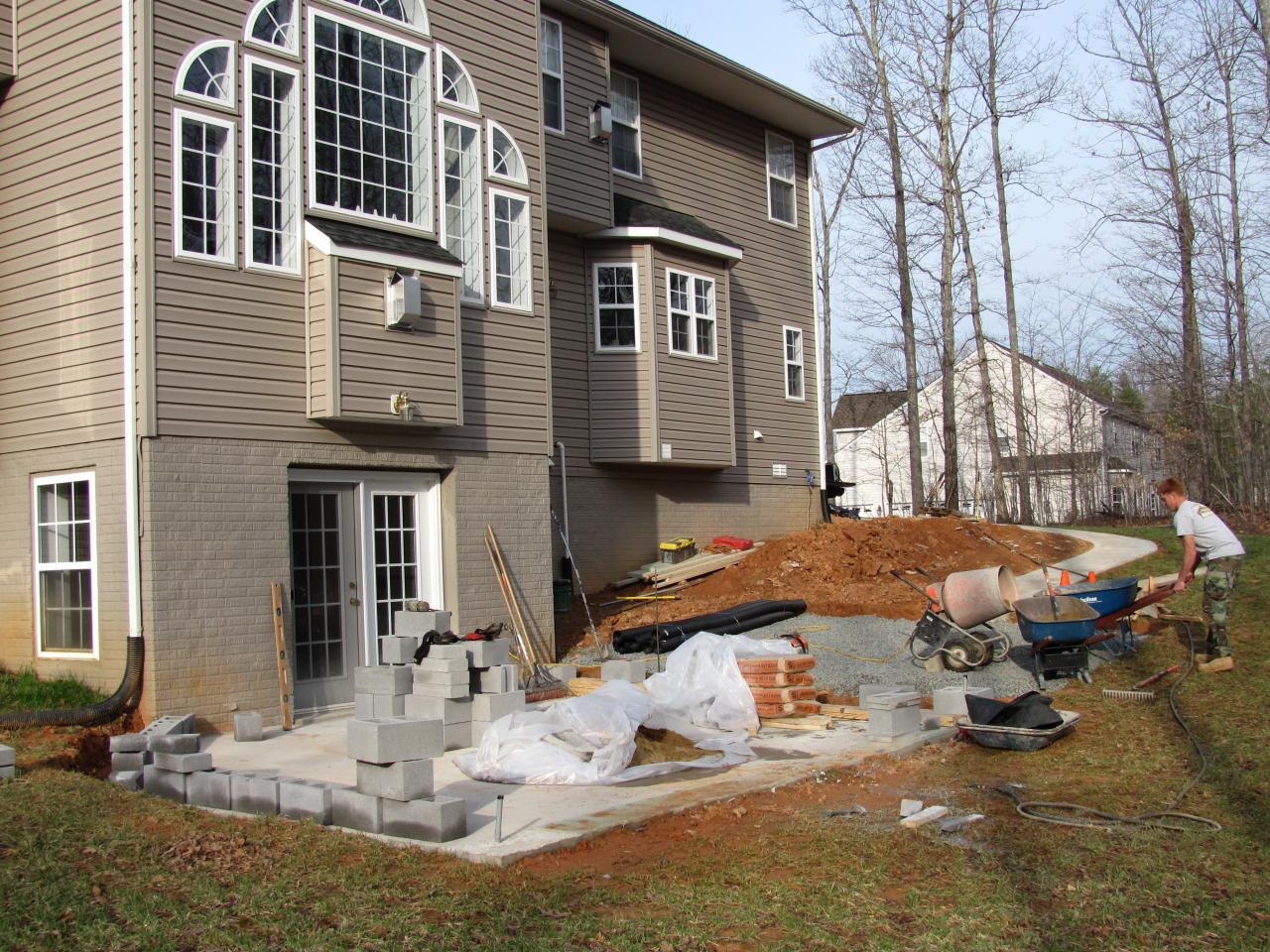 Landscaping Stone Fredericksburg Va : Diamond landscapes before and after